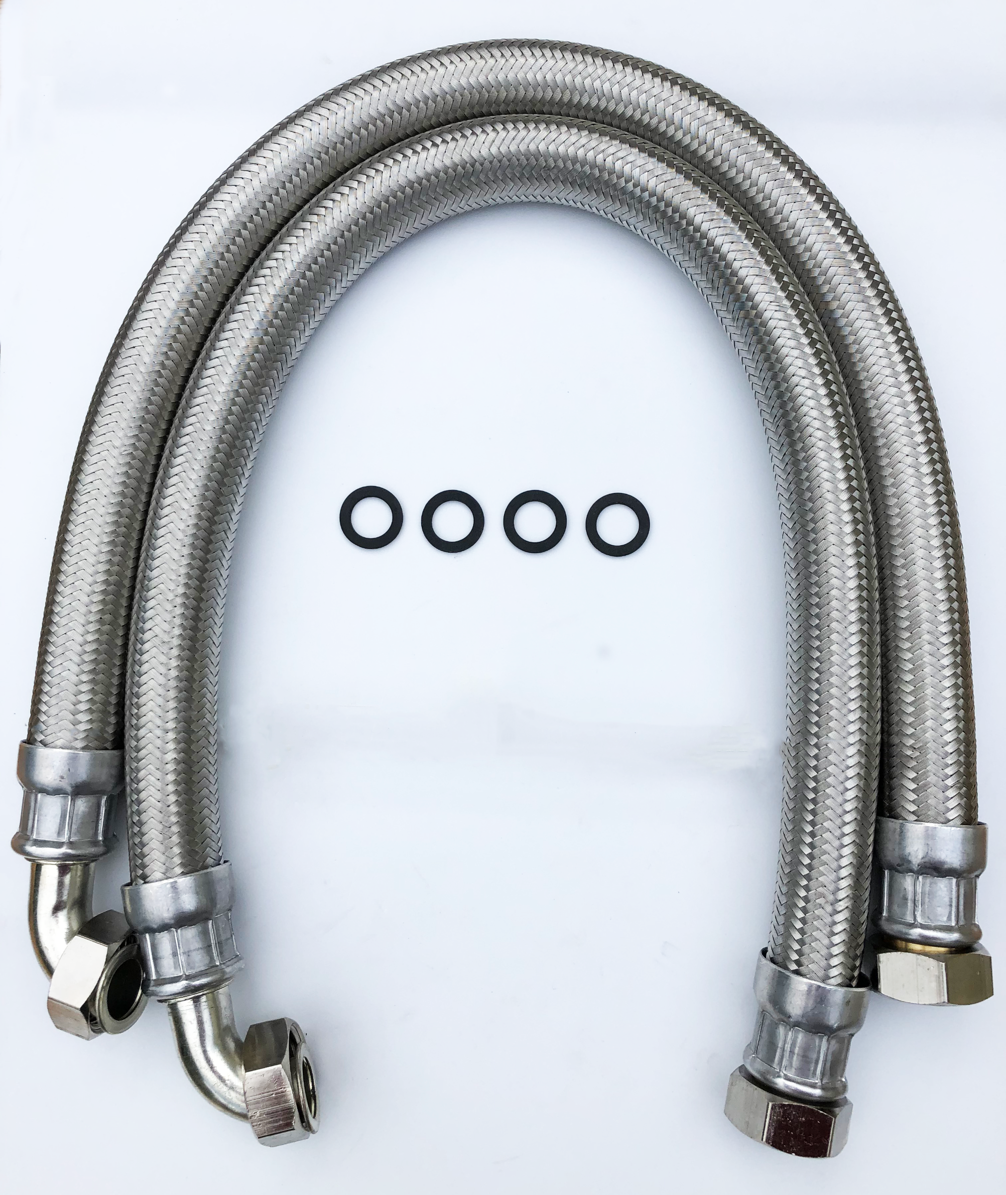 28mm Stainless Steel Hoses, 800mm long Pair